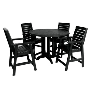 Weatherly 5pc 48in Round Dining Set - Counter Height Dining Highwood USA Black