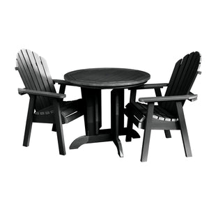 Hamilton 3pc 36in Round Dining Set - Dining Height Dining Highwood USA Black