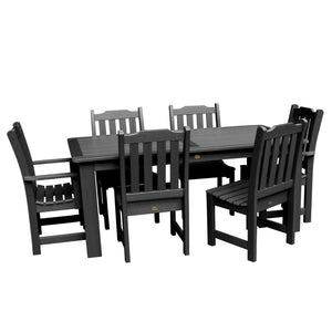 Lehigh 7pc Rectangular Dining Set 37in x 72in - Dining Height Dining Highwood USA Black