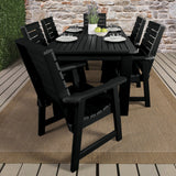 Weatherly 7pc Rectangular Dining Set 37in x 72in - Dining Height Dining Highwood USA