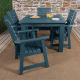 Weatherly 5pc Square Dining Set 42in x 42in - Dining Height Dining Highwood USA