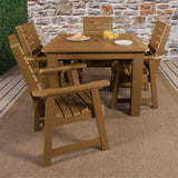 Weatherly 5pc Square Dining Set 42in x 42in - Dining Height