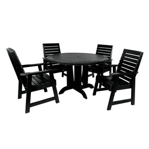 Weatherly 5pc 48in Round Dining Set - Dining Height