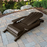 1 King Hamilton Folding and Reclining Adirondack Chair with 1 Easy-add Cup Holder Highwood USA