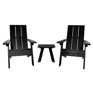 Barcelona Modern Adirondack 3-Piece Set Highwood USA Black