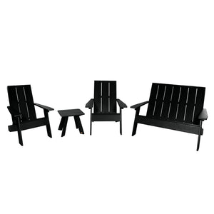 Barcelona Modern Adirondack 4-Piece Set Highwood USA Black