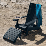 Manhattan Beach Adirondack Chair with Folding Adirondack Ottoman Highwood USA