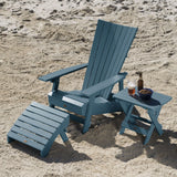 Manhattan Beach Adirondack Chair with Folding Adirondack Side Table and Ottoman Highwood USA