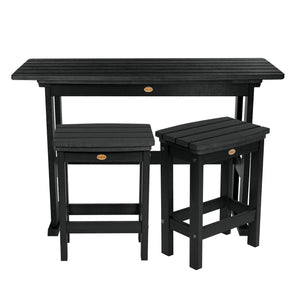 Lehigh 3pc Counter Height Balcony Set Highwood USA Black