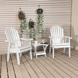 2 Hamilton Deck Chairs with Folding Side Table