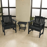 2 Lehigh Garden Chairs with Folding Adirondack Side Table