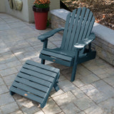 Hamilton Folding & Reclining Adirondack Chair with Folding Adirondack Ottoman Highwood USA