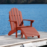 Classic Westport Adirondack Chair with Folding Adirondack Ottoman