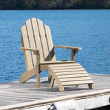 Classic Westport Adirondack Chair with Folding Adirondack Ottoman Highwood USA