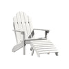 Classic Westport Adirondack Chair with Folding Adirondack Ottoman Highwood USA White