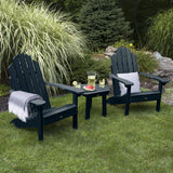 2 Classic Westport Adirondack Chairs with 1 Westport Side Table