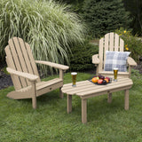 2 Westport Adirondack Chairs with 1 Westport Conversation Table