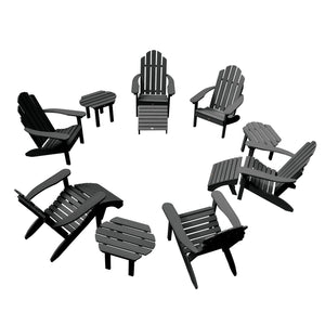 Classic Westport Adirondack Fireside Set Highwood USA Black