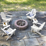 4 Classic Westport Adirondack Chairs with 2 Folding Side Tables