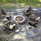 4 Classic Westport Adirondack Chairs with 2 Side Tables Highwood USA