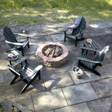 4 Classic Westport Adirondack Chairs with 2 Side Tables