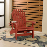1 King Hamilton Folding and Reclining Adirondack Chair with 1 Easy-add Cup Holder