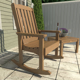 2 Lehigh Rocking Chairs with Adirondack Side Table Highwood USA