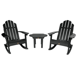 Classic Westport Rocking Chair and Table Set Highwood USA Black