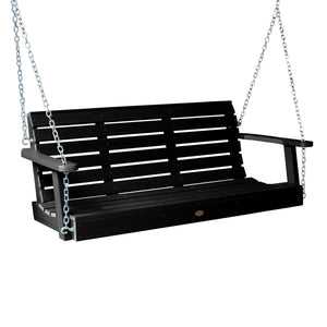 Weatherly Porch Swing - 5ft BenchSwing Highwood USA Black