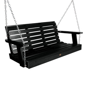 Weatherly Porch Swing - 4ft BenchSwing Highwood USA Black