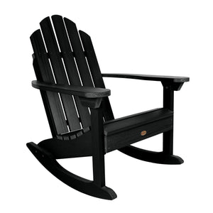 Refurbished Classic Westport Adirondack Rocking Chair Highwood USA Black