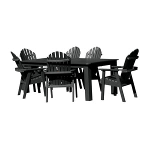Hamilton 7pc Rectangular Outdoor Dining Set 42in x 72in - Dining Height
