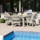 Hamilton 7pc Rectangular Outdoor Dining Set 42in x 72in - Dining Height Dining Highwood USA