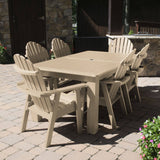 Hamilton 7pc Rectangular Outdoor Dining Set 42in x 84in - Dining Height Dining Highwood USA