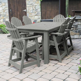 Hamilton 7pc Rectangular Outdoor Dining Set 42in x 72in - Counter Height Dining Highwood USA