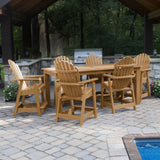 Hamilton 7pc Rectangular Outdoor Dining Set 42in x 84in - Counter Height Dining Highwood USA