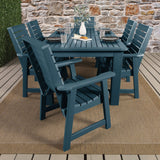 Weatherly 7pc Rectangular Dining Set 42in x 72in - Dining Height