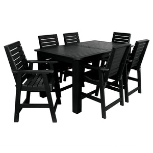 Weatherly 7pc Rectangular Dining Set 42in x 72in - Counter Height Dining Highwood USA Black