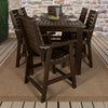 Weatherly 7pc Rectangular Outdoor Dining Set 42in x 84in - Counter Height Dining Highwood USA
