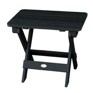 Highwood Folding Adirondack Side Table Highwood USA Black