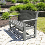 Commercial Grade Exeter 4' Garden Bench Sequoia Professional