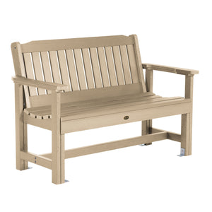 Commercial Grade Exeter 4' Garden Bench Sequoia Professional Tuscan Taupe