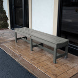 "Commercial Grade ""Weldon"" 6ft Backless Bench Sequoia Professional"