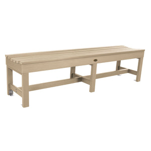 "Commercial Grade ""Weldon"" 6ft Backless Bench Sequoia Professional Tuscan Taupe"