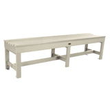 "Commercial Grade ""Weldon"" 6ft Backless Bench Sequoia Professional Whitewash"
