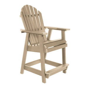 Commercial Grade Muskoka Adirondack Deck Dining Chair in Counter Height Sequoia Professional Tuscan Taupe