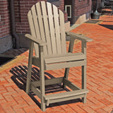 Commercial Grade Muskoka Adirondack Deck Dining Chair in Counter Height Sequoia Professional