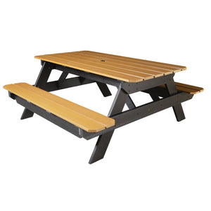 "Commercial Grade ""National"" Picnic Table Sequoia Professional Saddle"