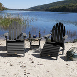 2 Essential Adirondack Chairs with Folding Side Table & 2 Folding Ottomans ELK OUTDOORS®