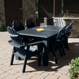 Hamilton 7pc Rectangular Outdoor Dining Set 42in x 84in - Dining Height